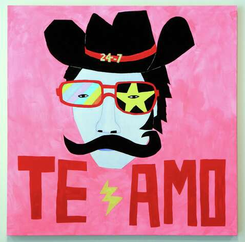 "San Antonio artist Cruz Ortiz is having a solo exhibition at the UT Visual Art Center in Austin.  This piece is titled ""te amo cowboy"".  Thursday, Sept. 20, 2012. Photo: BOB OWEN, San Antonio Express-News / © 2012 San Antonio Express-News"