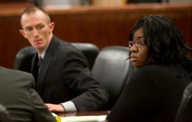 If convicted, Jessica Tata, seen at a pretrial hearing last week in Houston, faces a maximum of life in prison. Photo: Cody Duty /  2012 Houston Chronicle