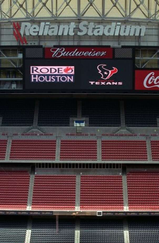 A new scoreboard at Reliant Stadium could help Houston host the Super Bowl in 2017. (HC)
