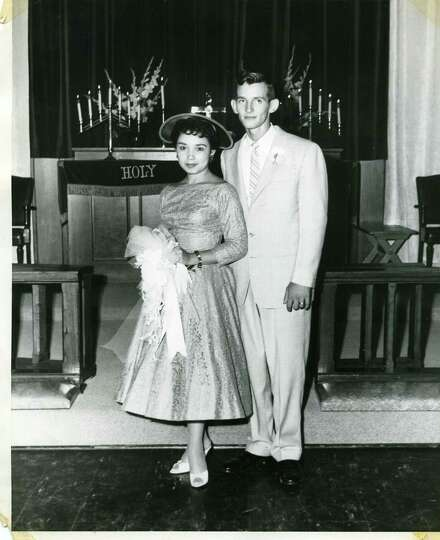 On Sept 1st, 1957 Bill Umphlett and Barbara Oliva were married in Chapel #3 at 4 p.m. at Lackland AF