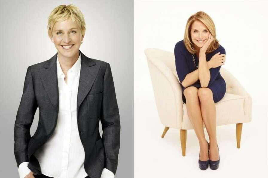 Proven Ellen DeGeneres takes on new daytime talker Katie Couric. (KENS/KSAT Graphic: Jakle/Ruediger)