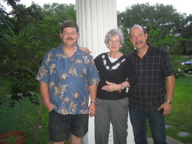 "For Winn Murnin's 79th birthday in October, 2012, her family gave her a trip down memory lane. The house's current owners, Neal Wagner and Deborah Callanan, graciously allowed the Murnins to tour the home that they moved away from in 1975. Neal suggested a ""Then & Now"" picture for the Express-News. Photo: Chrissie Warner, Reader Submissi"