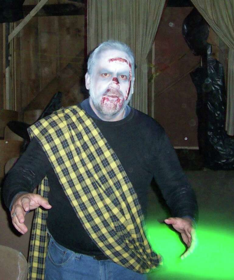 """Macbeth's"" Duncan played by Andrew Daly scares up a scene at the Little Theater on the Farm's annual Haunted Barn. (Courtesy Little Theater on the Farm)"
