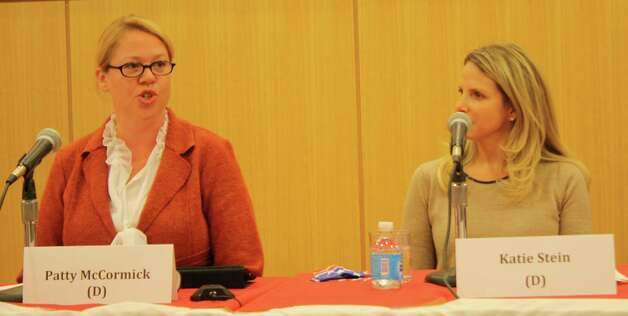 Board of Education candidates Patty McCormick and Katie Stein. Oct. 18, 2012. Photo: Megan Davis