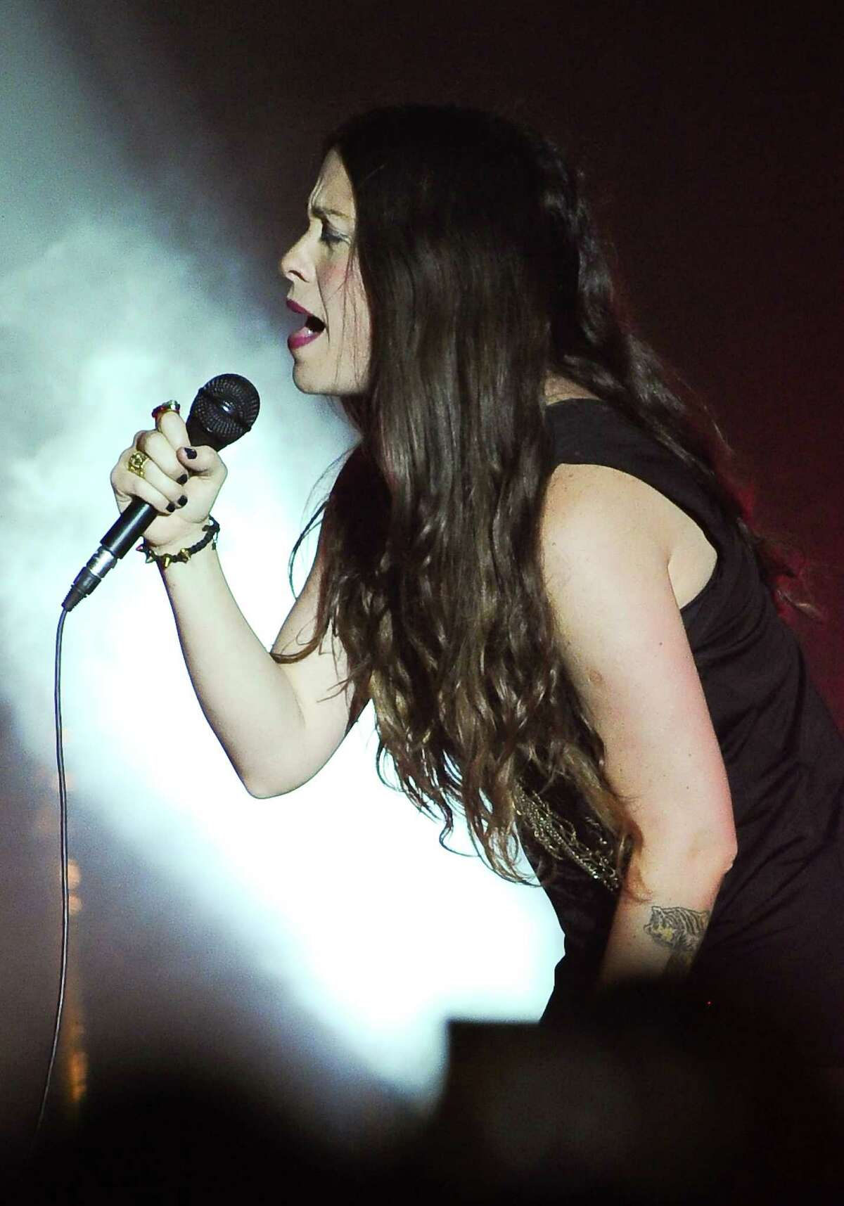 Alanis Morissette performs at The Sound Academy on October 15, 2012 in Toronto, Canada. (Photo by George Pimentel/Getty Images)