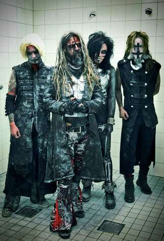 John 5, from left, Rob Zombie, Piggy D and Ginger Fish put a lot of effort into putting on a big show. Photo: Rick Fagan