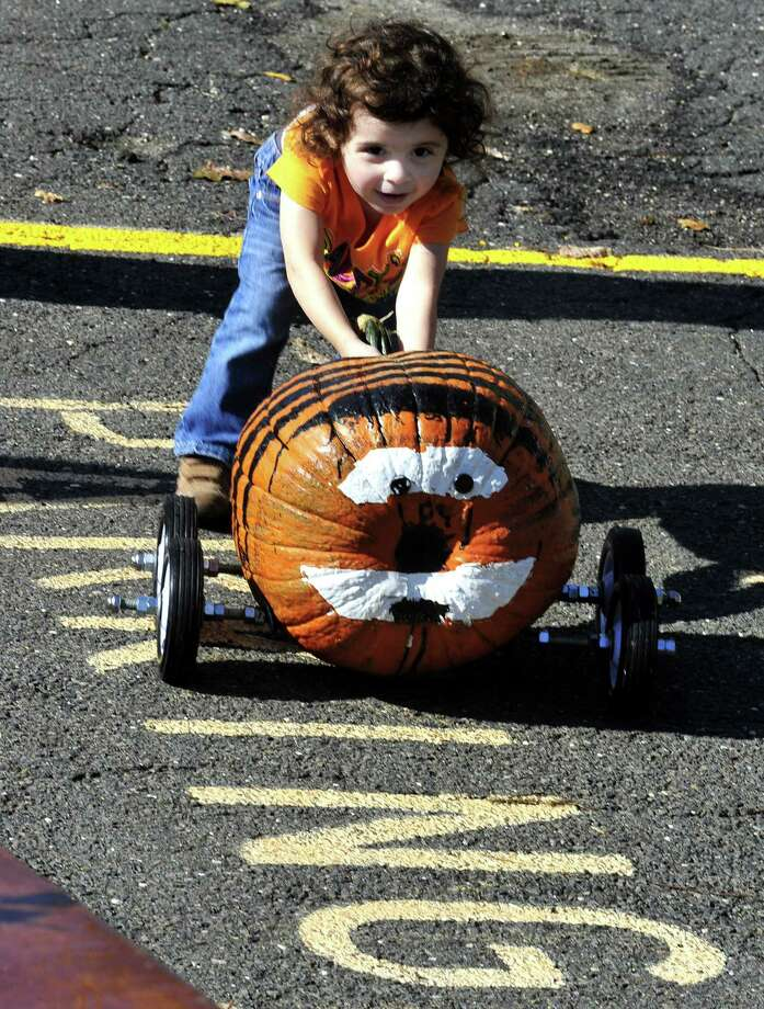 Oct. 19: Start getting your pumpkins ready. The Lion's Club's annual Great Pumpkin Race and Decorating Contest will be held behind Newtown's Edmond Town Hall on Main Street from 10 a.m. to 2 p.m. Pumpkin racers must be on four wheels, but cannot be on skates or skateboards. Many activities will be held, including a pumpkin decorating contest with prizes. It's $5 for each event entered; there are no other fees. Free cider and doughnuts. 203-405-6392. Photo: Michael Duffy / The News-Times