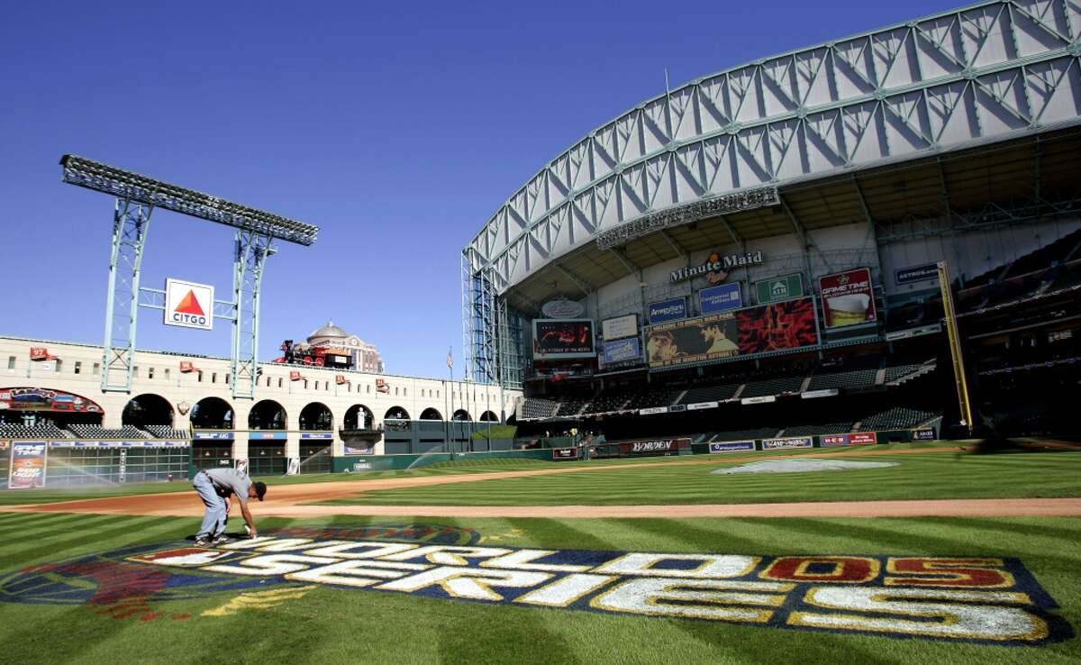 Minute Maid Park is ready for the World Series. (Chronicle)