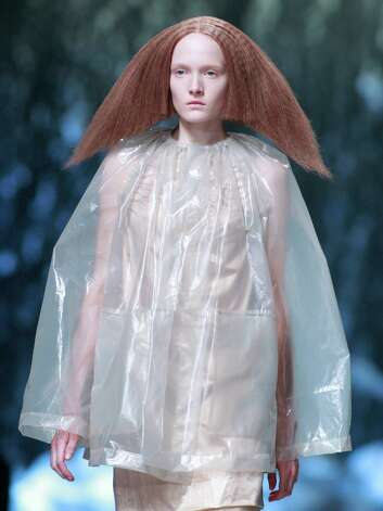 A model wears a creation for U.S fashion designer Rick Owens' ready to wear Spring-Summer 2013, presented in Paris, Thursday, Sept.27, 2012. (AP Photo/Thibault Camus) Photo: Thibault Camus, STR / AP
