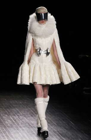 Alexander McQueen  during the Fall/Winter 2012-2013 ready-to-wear collection show, on March 6, 2012 in Paris. AFP PHOTO/FRANCOIS GUILLOT (Photo credit should read FRANCOIS GUILLOT/AFP/Getty Images) Photo: FRANCOIS GUILLOT, Staff / 2012 AFP