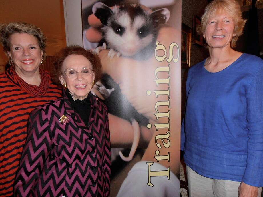 Celebrating the 35th anniversary of Wildlife Rescue & Rehabilitation are hostesses Taddy McAllister, from left, Edith McAllister and WRR founder and President Lynn Cuny. Photo: Nancy Cook-Monroe
