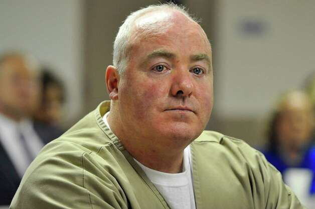 Michael Skakel listens as parole is denied during a hearing at McDougall-Walker Correctional Institution in Suffield, Conn., Wednesday, Oct. 24, 2012. Parole officials denied Skakel's first bid for parole since he was convicted a decade ago of killing his neighbor in 1975. Skakel is serving 20 years to life for fatally beating Martha Moxley with a golf club in Greenwich when they were 15-year-old neighbors. Photo: Jessica Hill, Jessica Hill/Associated Press / Greenwich Time contributed Associated Press