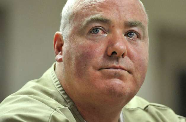 Michael Skakel listens during a parole hearing at McDougall-Walker Correctional Institution in Suffield, Conn., Wednesday, Oct. 24, 2012. Parole officials denied Skakel's first bid for parole since he was convicted a decade ago of killing his neighbor in 1975. Skakel is serving 20 years to life for fatally beating Martha Moxley with a golf club in Greenwich when they were 15-year-old neighbors. Photo: Jessica Hill, Jessica Hill/Associated Press / Greenwich Time contributed Associated Press
