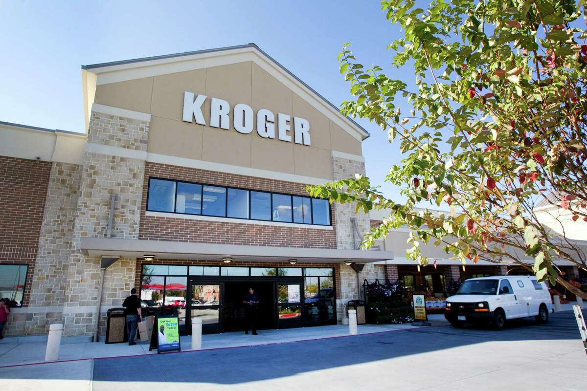 The entrance of the new Kroger on Studemont is shown Wednesday, Oct. 24, 2012, in Houston. The signature grocery store is scheduled to open October 26. ( Brett Coomer / Houston Chronicle )