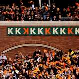 Giants' pitchers collected ten strike outs, nine by starter Ryan Vogelsong on his own, as the San Francisco Giants beat the St. Louis Cardinals 6-1 in game six of the National League Championship Series, on Sunday Oct. 21, 2012 at AT&T Park, in  San Francisco, Calif.