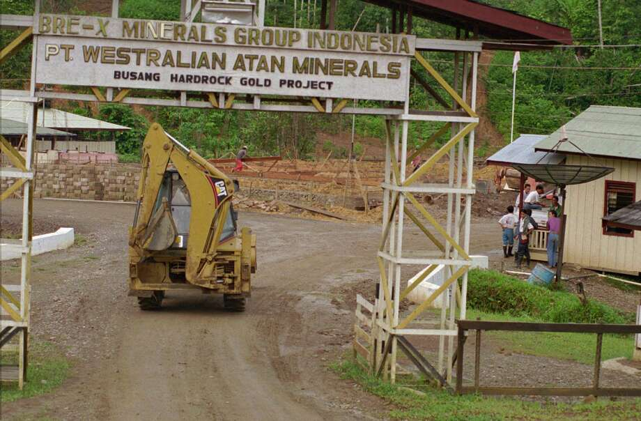 This Canadian company was involved in one of the largest stock swindles in history. Its Indonesian gold property, which was reported to contain more than 200 million ounces, was said to be the richest gold mine, ever. The stock price for Bre-X skyrocketed to a high of $280 (split adjusted), making millionaires out of ordinary people overnight. At its peak, Bre-X had a market capitalization of $4.4 billion.   The party ended on March 19, 1997, when the gold mine proved to be fraudulent and the stock tumbled to pennies, shortly after.Read more at Investopedia.com Photo: GATRA MAGAZINE, Associated Press / AP1997