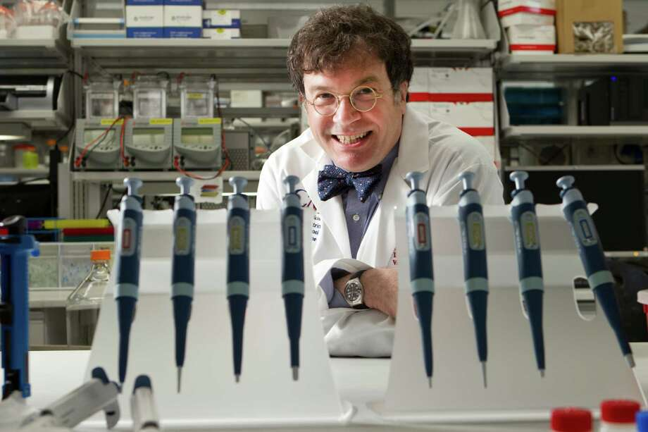 Dr. Peter Hotez, president of the Sabin Vaccine Institute and founding dean of the School of Tropical Medicine at Baylor College of Medicine, poses for a portrait in the institute's lab Wednesday, April 11, 2012, in Houston. Hotez is leading the Baylor effort, unique in the U.S., to develop vaccines and treat neglected tropical diseases. ( Brett Coomer / Houston Chronicle ) Photo: Brett Coomer / © 2012 Houston Chronicle