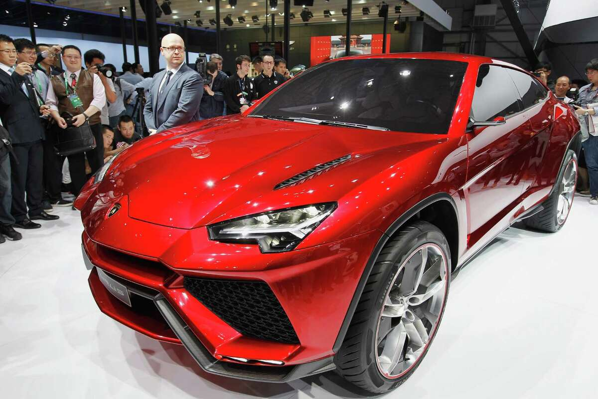 The Lamborghini Urus sport-utility concept vehicle is seen during the 2012 Beijing International Automotive Exhibition at China International Exhibition Center on April 25, 2012 in Beijing.