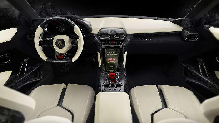 A depiction of the interior of the Lamborghini Urus concept SUV. Photo: Lamborghini