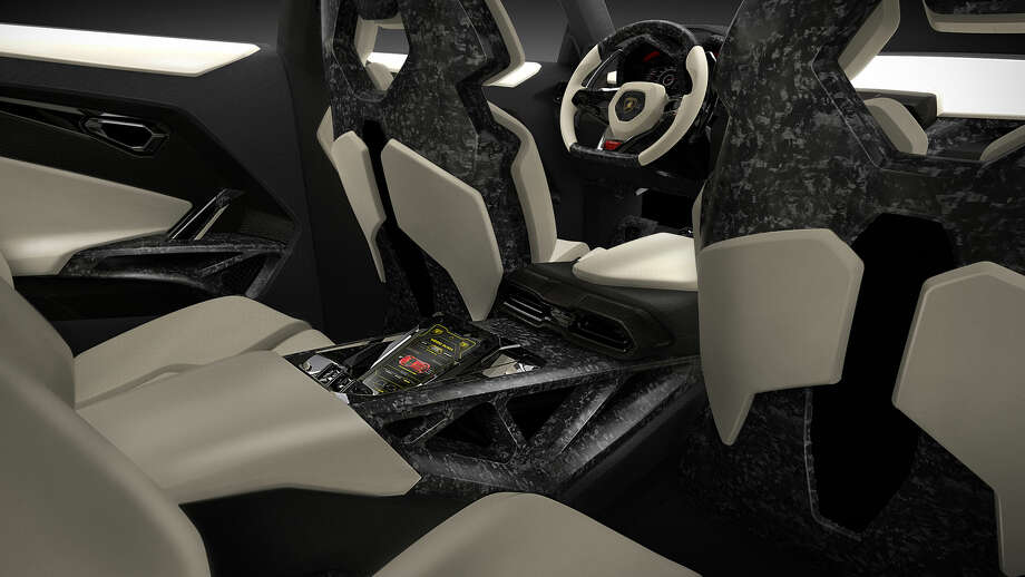 A depiction of the interior of the Lamborghini Urus concept SUV. Photo: Lamborghini