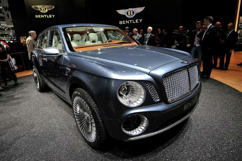 The Bentley EXP 9 F concept car is displayed on March 6, 2012, during a press day ahead of the 82nd Geneva Car Show in Geneva. Photo: FABRICE COFFRINI, AFP/Getty Images / 2012 AFP