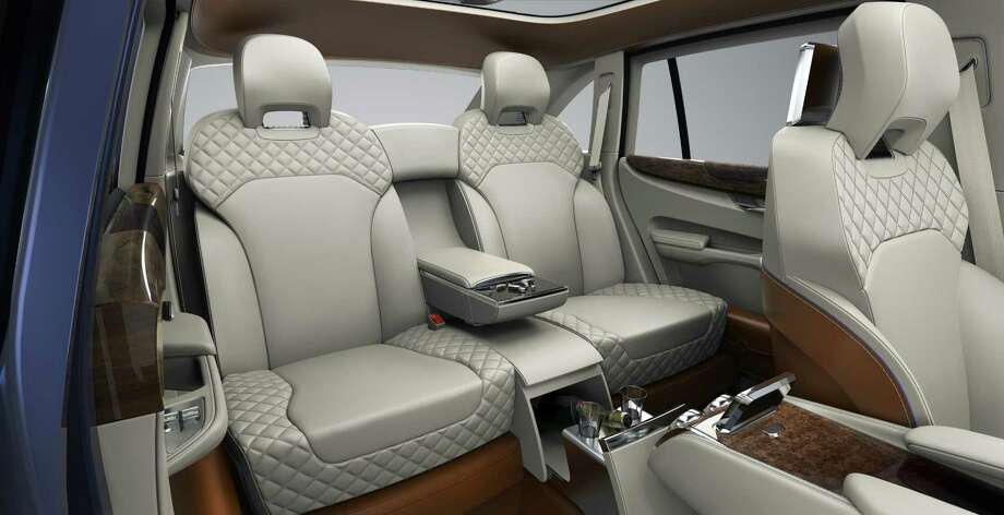 A depiction of the interior of the Bentley EXP 9 F Concept SUV. Photo: Bentley