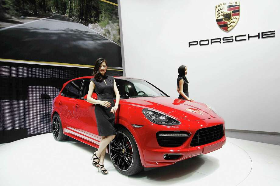 The new performance SUVs would follow on Volkswagen subsidiary Porsche's success with the Cayenne, shown here during the media day of the 2012 Beijing International Automotive Exhibition on April 23, 2012 in Beijing. It's starting price is $48,850. Photo: Lintao Zhang, Getty Images / 2012 Getty Images