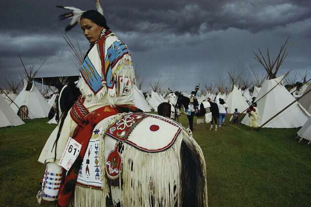 American Indian Beauty Pageant Winner, Oregon, 1997.  Photo by William Albert Allard/National Geographic Stock. Part of the  National Geographic Greatest Photographs of the American West  show opening at the Stark Museum of Art. Photo: Courtesy