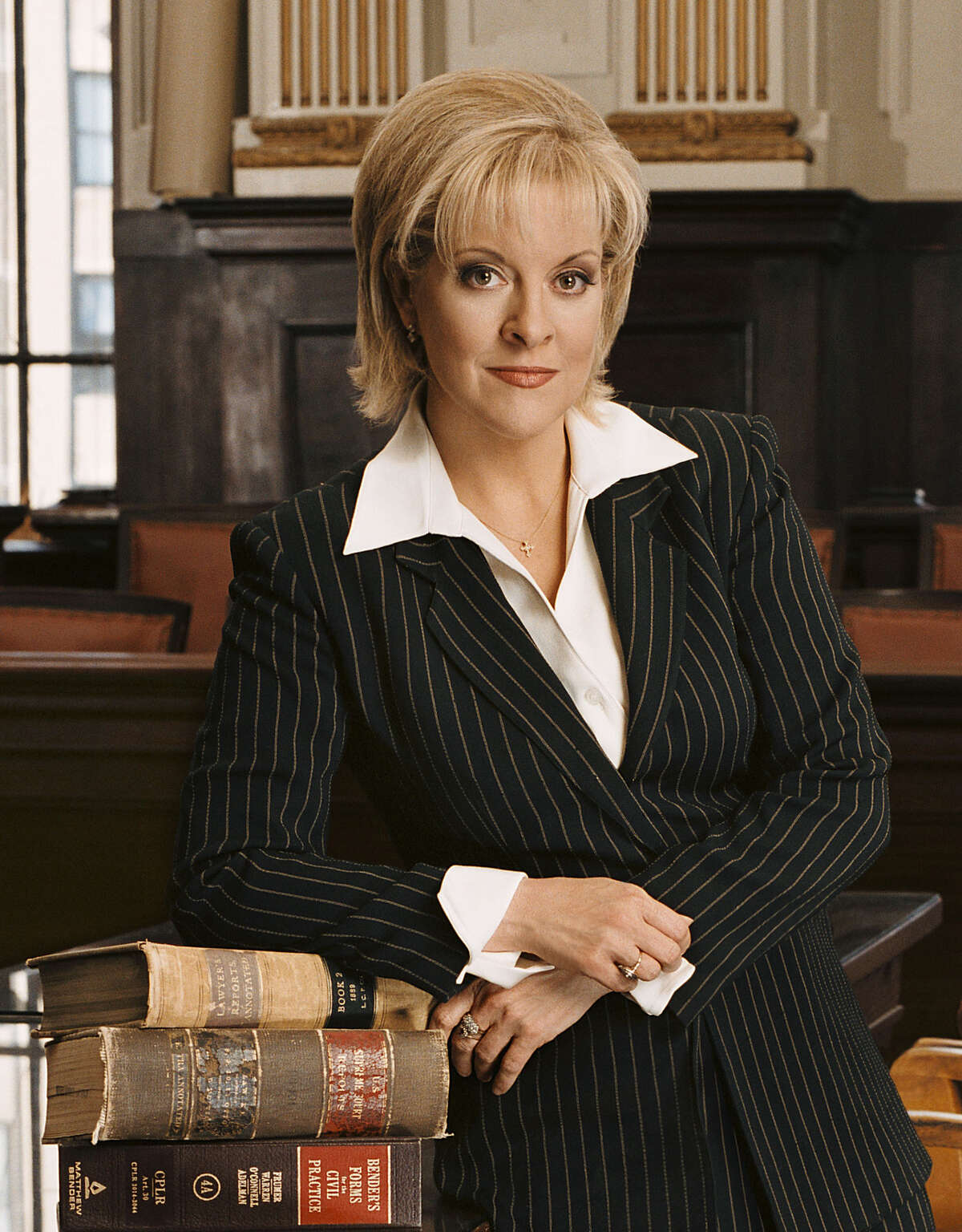 ** FILE **This file photo originally from CNN shows Nancy Grace posed in Yonkers, N.Y., on Jan. 12, 2005. A Stamford attorney working for Michael Skakel filed suit against Grace, (AP Photo/CNN, Kyle Christy)