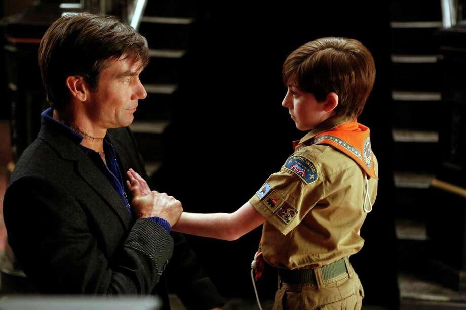 "MOCKINGBIRD LANE -- ""Pilot"" -- Pictured: (l-r) Jerry O'Connell as Herman, Mason Cook as Eddie -- (Photo by: Jordin Althaus/NBC) Photo: NBC / Episodic"