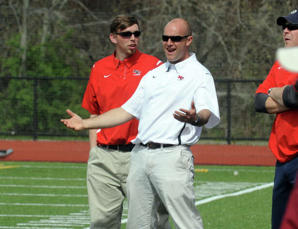 New Canaan boys lacrosse coach Alex Whitten stepped down Tuesday. Whitten is moving to Virginia, taking over a high school and youth program. Photo: Christian Abraham