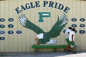 Players head out to practice at Pleasanton High School on Wednesday, Oct. 24, 2012. The Eagles are 8-0 this season after going 2-8 last year.