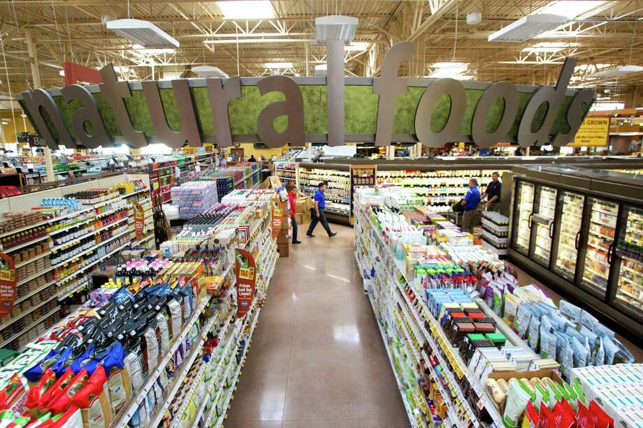 The natural foods section is shown at the new Kroger on Studemont Wednesday, Oct. 24, 2012, in Houston. The signature grocery store is scheduled to open October 26. Photo: Brett Coomer, Houston Chronicle / © 2012 Houston Chronicle