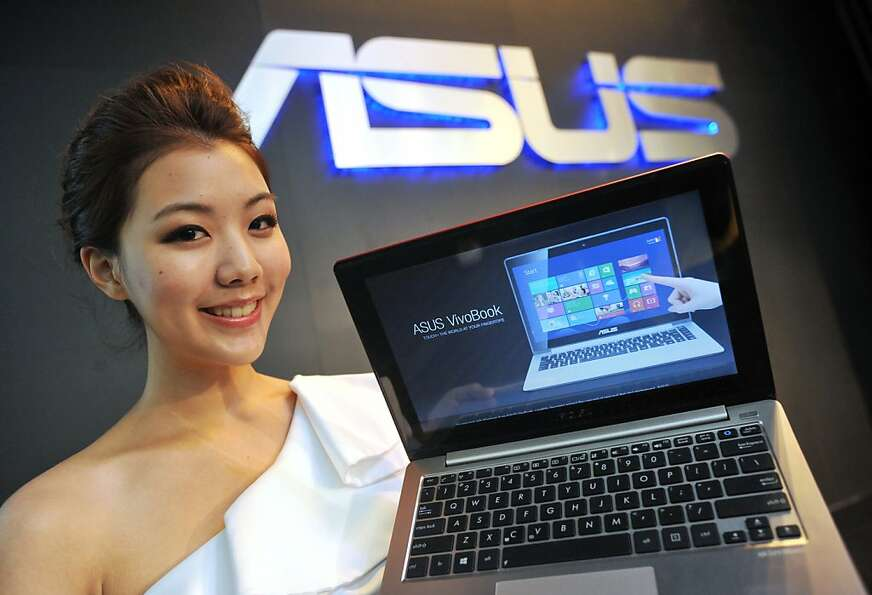 The ASUS VivoBook laptop will run Microsoft's much-anticipated Windows 8 operating system.