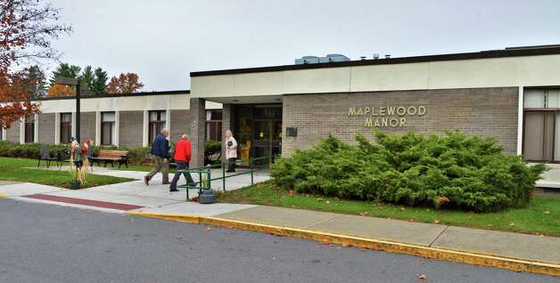 Entrance of Maplewood Manor nursing home in Ballston Spa Wednesday Oct. 24, 2012.  (John Carl D'Annibale / Times Union) Photo: John Carl D'Annibale / 00019812A