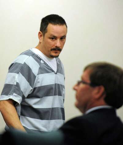Steven McComsey, the Salem man accused of causing an explosion that killed six people, is pictured during his Oct. 24 court appearance in Fort Edward. McComsey waived his right to a pre-trial hearing Friday as he continues to weigh a plea-bargain offer from the district attorney?s office. (Michael P. Farrell/Times Union archive) Photo: Michael P. Farrell