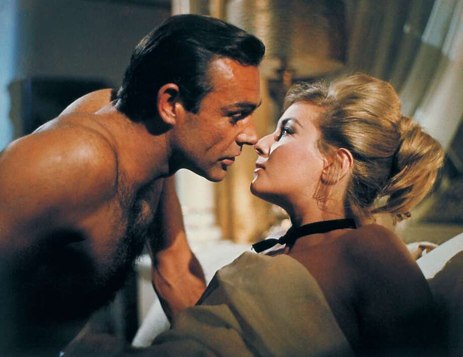 "Sean Connery and Daniela Bianchi in Bond's finest, ""From Russia With Love."" Photo: Associated Press"