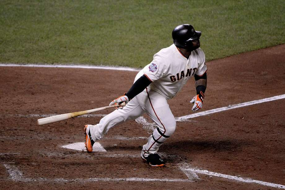 SAN FRANCISCO, CA - OCTOBER 24:  Pablo Sandoval #48 of the San Francisco Giants hits a solo home run in the fifth inning against the Detroit Tigers during Game One of the Major League Baseball World Series at AT&T Park on October 24, 2012 in San Francisco, California. Photo: Thearon W. Henderson, Getty Images / Getty Images North America