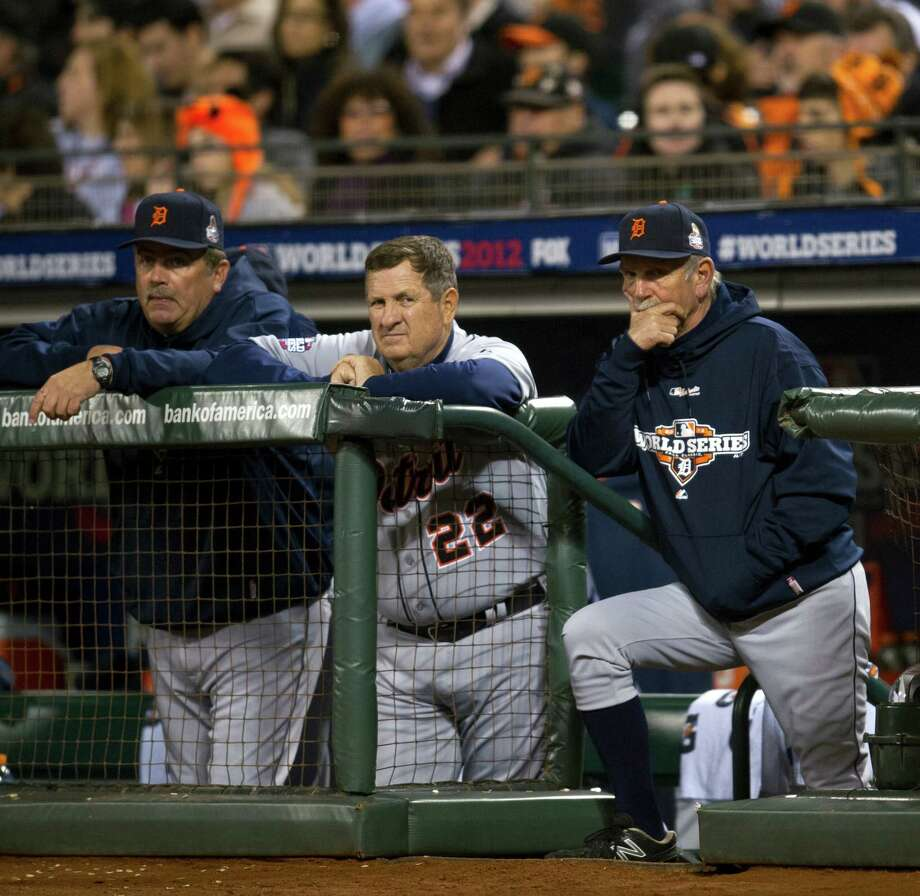 Detroit Tigers manager Jim Leyland, right and third base coach Gene Lamont (22) watch from the dugout against the San Francisco Giants in Game 1 of the World Series at AT&T Park on Wednesday, October 24, 2012, in San Francisco, California. (Paul Kitagaki Jr./Sacramento Bee/MCT) Photo: Paul Kitagaki Jr., McClatchy-Tribune News Service / ARCHIVE