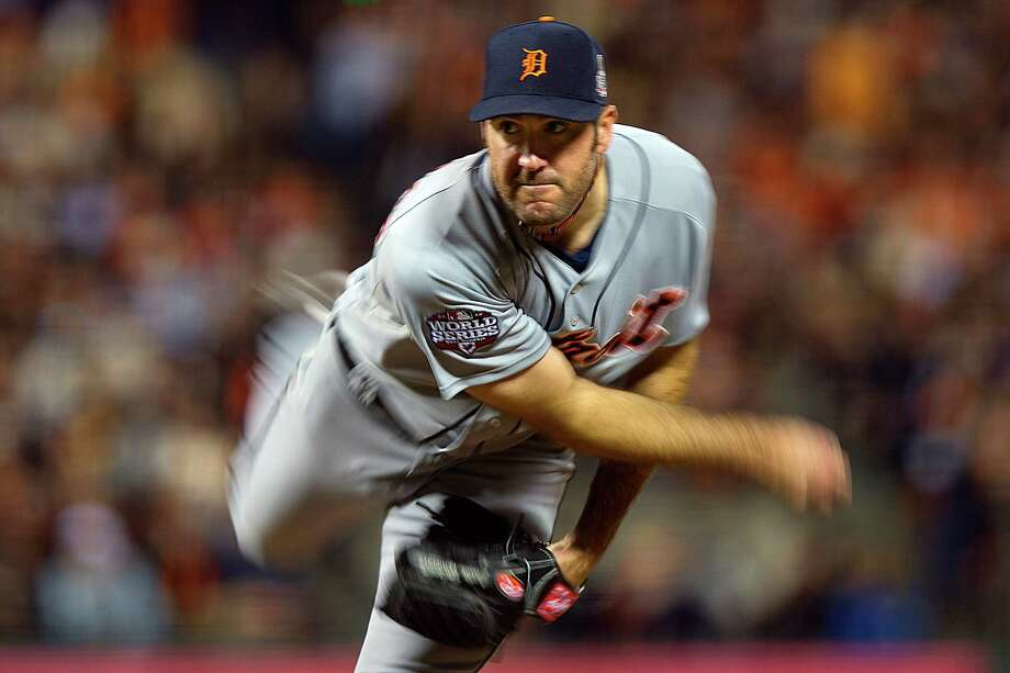 Detroit Tigers starting pitcher Justin Verlander (35) delivers against the San Francisco Giants during the fourth inning of Game 1 of baseball's World Series, Wednesday, Oct. 24, 2012, in San Francisco. (AP Photo/The Sacramento Bee, Jose Luis Villegas)  MAGS OUT; LOCAL TV OUT (KCRA3, KXTV10, KOVR13, KUVS19, KMAZ31, KTXL40); MANDATORY CREDIT Photo: Jose Luis Villegas, Associated Press / The Sacramento Bee
