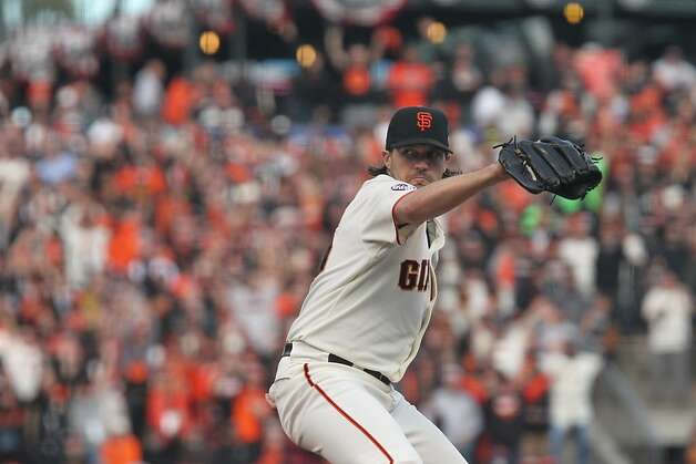 Giants' pitcher Barry Zito throws in the 1st inning during game 1 of the World Series at AT&T Park on Wednesday, Oct. 24, 2012 in San Francisco, Calif. Photo: Lance Iversen, The Chronicle