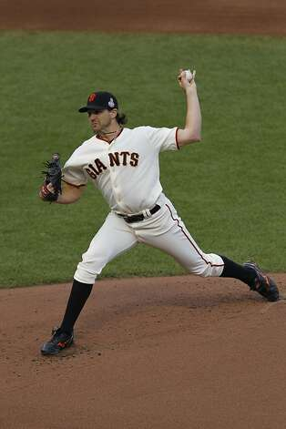 Giants' pitcher Barry Zito throws in the 1st inning during the World Series game 1 at AT&T Park in San Francisco, Calif., on Wednesday, Oct. 24, 2012. Photo: Brant Ward, The Chronicle