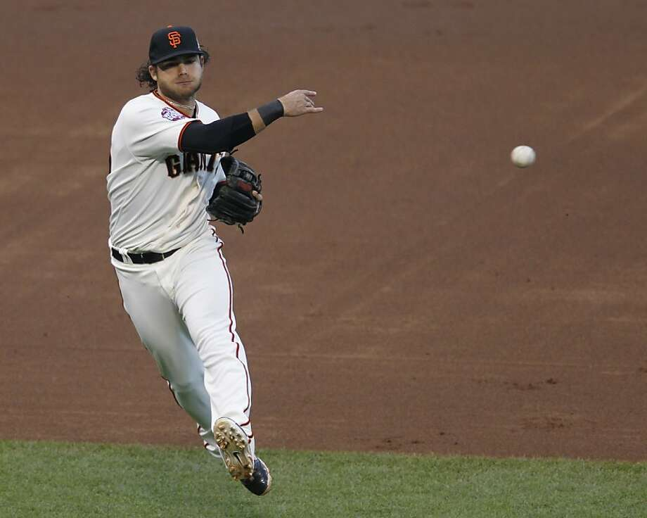 In his first full season in the majors, Brandon Crawford helped anchor the Giants' defense with his flashy, solid shortstop play. Photo: Brant Ward, The Chronicle