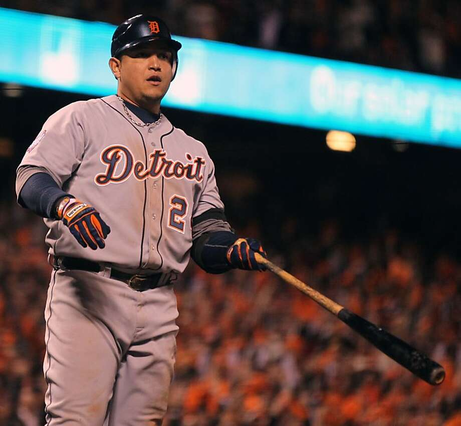 Surprisingly, Miguel Cabrera hit better against right-handers this season. Photo: Lance Iversen, The Chronicle