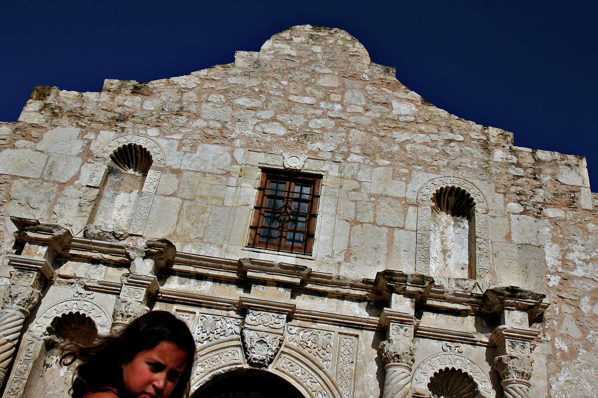 The Alamo:300 Alamo Plaza The Alamo is said to be the most haunted spot in San Antonio, but what else can be expected from a historic landmark with a mass grave underneath? San Antonio's most iconic spot is said to still hold the spirits of the men violently killed while trying to defend the Alamo. More than 180 Texans died Guests have reported hearing moans inside the building and even nearby hotels are said to have the spirits walking around and emerging from walls. One story says that after Santa Anna surrendered to Gen. Sam Houston at the Battle of San Jacinto in 1836, orders were sneaked back to the small Mexican force in San Antonio to destroy the Alamo. The men sent to level the building returned to their commander unsuccessful, reporting ghosts with swords of fire guarding the shrine.