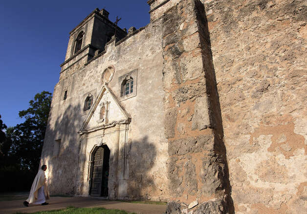 "Mission Concepcion: Legend says Rebecca,  an angel of mercy appeared near Mission Concepcion to save a Mexican soldier named Santos. In possession of a good luck pecan,  he later saves her betrothed only to die in Santa Anna's final assault. So, the story goes that ""when the sun is setting and the sanctuary is deserted,  a spirit appears and tosses a pecan into the room where Jim Bowie died — in memory of Santos."" Photo: Kin Man Hui, San Antonio Express-News / ©2012 San Antonio Express-News"