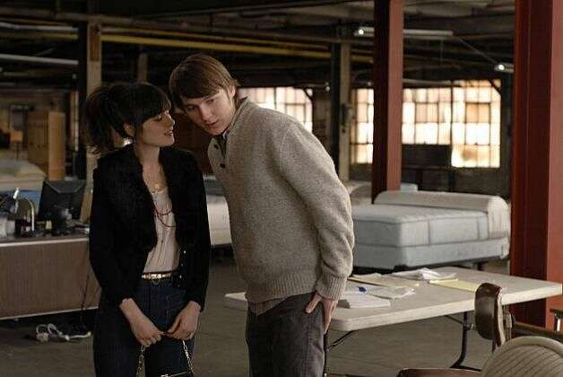 """Gigantic"" -- Zooey Deschanel and Paul Dano, wasted."