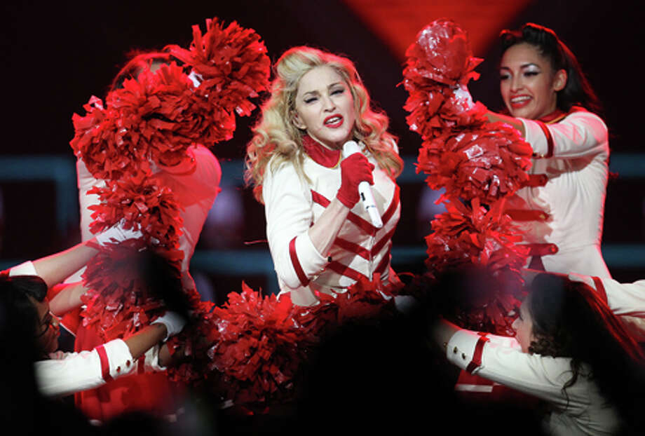 Madonna performs the first of two sold-out nights at Toyota Center, Wednesday, Oct. 24, 2012, in Houston. Photo: Karen Warren, . / © 2012  Houston Chronicle