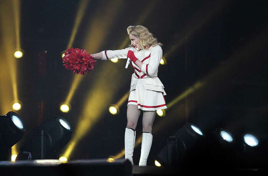 Madonna performs the first of two sold-out nights at Toyota Center, Wednesday, Oct. 24, 2012, in Hou