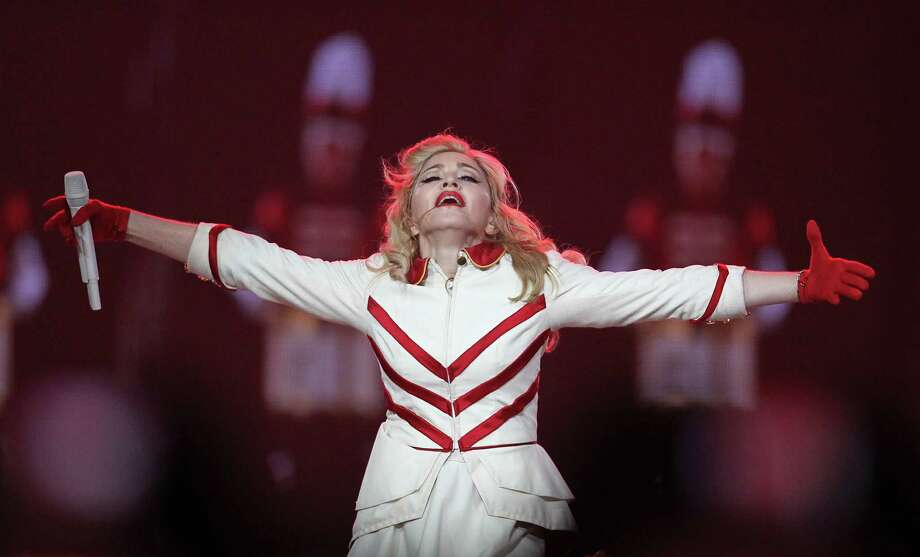 Madonna performs the first of two sold-out nights at Toyota Center, Wednesday, Oct. 24, 2012, in Houston. Photo: Karen Warren, Houston Chronicle / Houston Chronicle